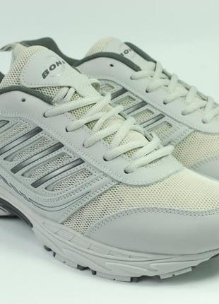 Летние мужские кроссовки, кожа+ сетка, размеры 47-50
