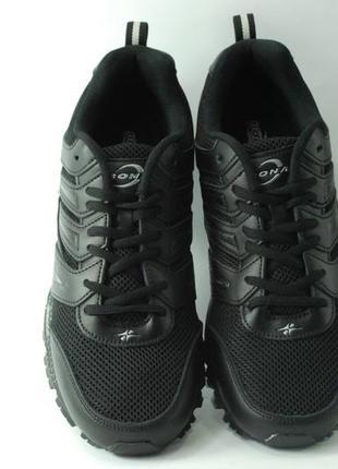 Мужские кроссовки, кожа+ сетка