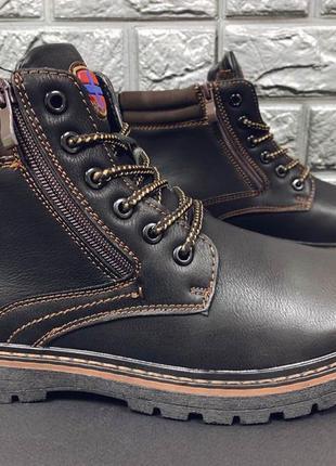 Зимние мужские ботинки, недорого, коричневые