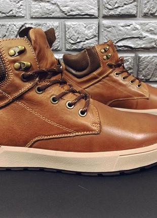 Мужские зимние ботинки yalasou натуральная кожа/мех