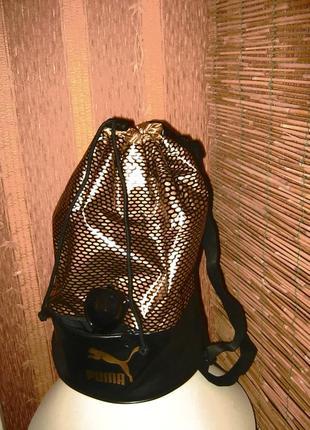 Рюкзак puma черно-золотистый рюкзак puma archive bucket bag gold