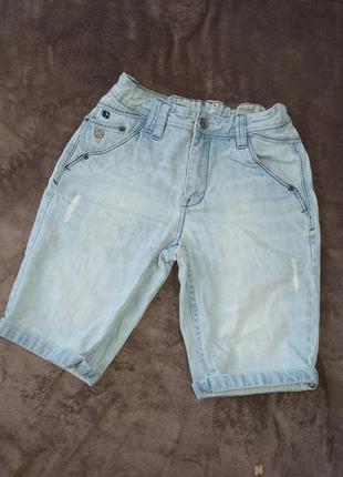Крутые шорты бриджи джинсовые на мальчика от 11-14 лет