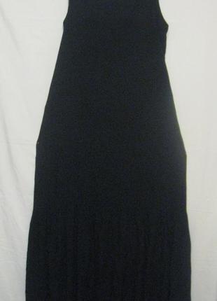Платье сарафан женское, чёрное, макси, в пол.48р-р. бюджетно