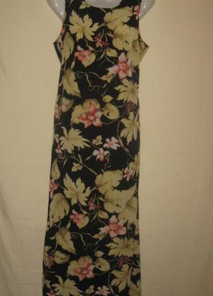 Платье летнее женское  длинное макси в цветочек.44 р-р.