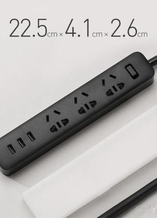 Удлинитель Xiaomi Mi Power Strip 3 розетки и 3 USB сетевой фильтр