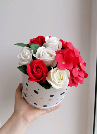 Букет из мыльных роз, букет из мыла, мыльные розы, цветы