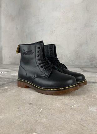 Шикарные женские зимние ботинки dr. martens 1460 black fur 😍 {...