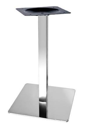 Подстолье Кама, нержавейка inox, высота 72 см, блин 40*40 см