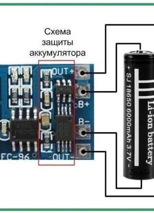 Контроллер заряда Li-ion аккумуляторов 1A, micro USB + защита