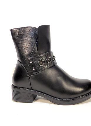Ботинки-полусапожки, женские, зимние, стильные. размер 36-40.