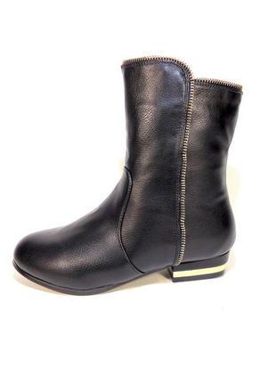 Ботинки-полусапожки, зимние, женские, на низком каблуке. разме...