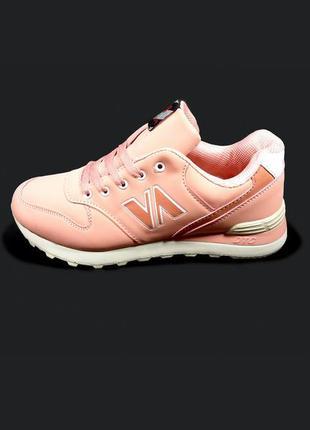 Кроссовки женские розовые, для бега и тренировок.