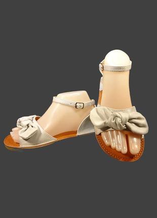 Босоножки сандалии женские с бантом, замшевые.