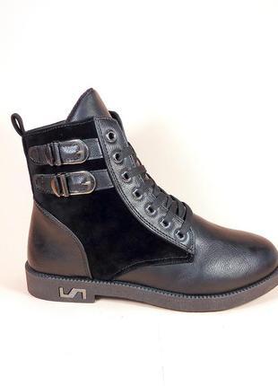 Женские демисезонные модные ботинки на низком ходу. размер 36-41.