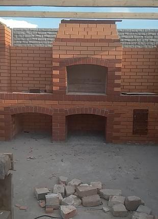 Строительство садовых каминов