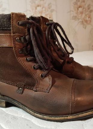 Мужские кожаные ботинки river island