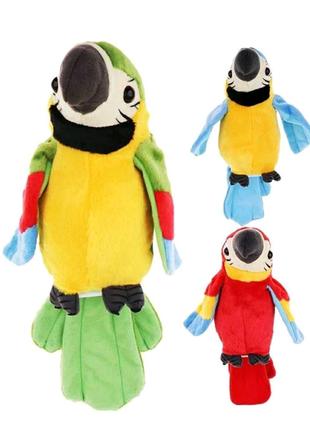 Мягкая игрушка Попугай повторюшка,  попугай повторюха.