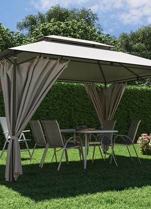 Садовый павильон 3м х 4м ткань полиэстер, шатер беседка альтанка