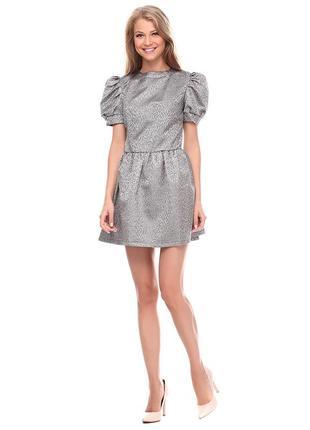 Шикарное серебряное платье новое с этикеткой р-р 42/s. недорого.