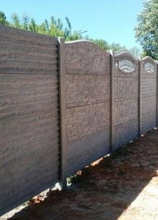 АКЦИЯ! Заборы бетонные наборные. Секционные Еврозаборы из бетона.