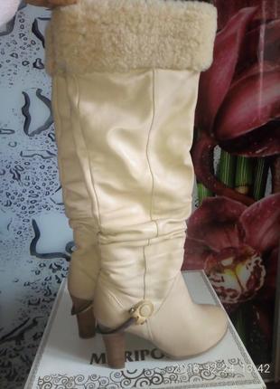 Шикарнейшие кожаные зимние сапоги basconi