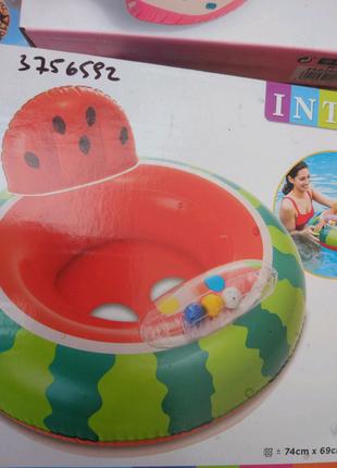 Детский надувной круг арбуз