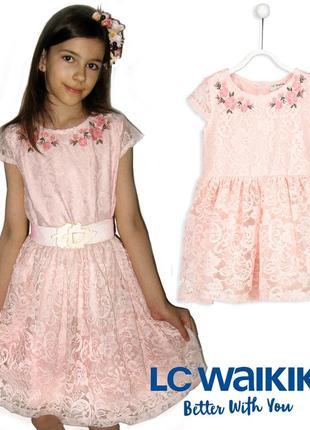 Нарядное платье lc waikiki для девочки 9-12 лет
