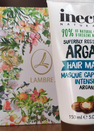 Маска з аргановою олією для сухого волосся/увлажняющая маска д...
