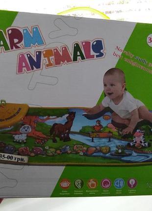 "Коврик развивающий "" ферма "" игра для детей"