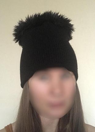 В наличии - стильная шапка с мехом