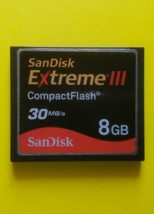 Карта памяти CF CompactFlash Compact Flash SanDisc 8 GB для Canon