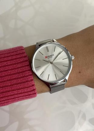 Женские наручные металлические часы curren blanche каррен сере...