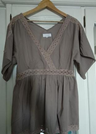 Батистовая блузочка,размер 48
