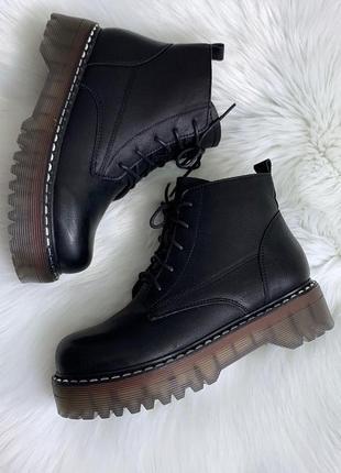 Стильные зимние ботинки на прозрачной подошве