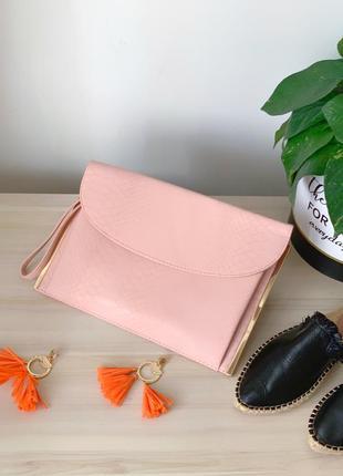 Рожевий/пудровий клатч