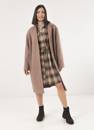 Женское стильное пальто season беверли цвета кемел