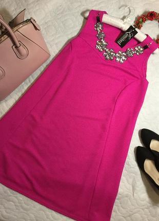 Платье вечернее нарядное с украшением цвета фуксии yours 20 ра...