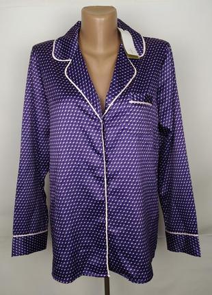 Пижама рубаха новая фиолетовая в гусиную лапку uk 8/36/xs