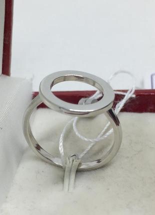 Новое родированое серебряное кольцо серебро 925 пробы