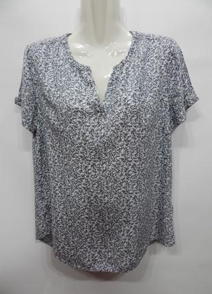 Блуза легкая фирменная женская TOM TAILOR 46-48 р.088бж