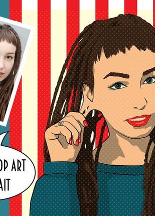 Поп арт портрет на заказ с Вашего фото