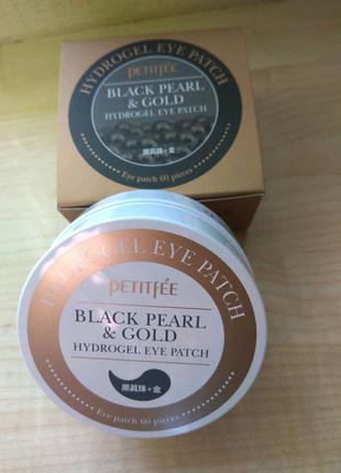 Гидрогелевые патчи Petitfee Black Pearl & Gold Eye Patch (60шт)