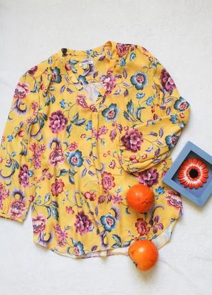 Желтая цветочная блуза от emma&olivia, размер l