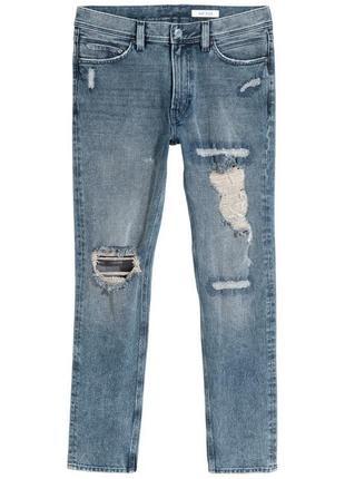 Рваные джинсы h&m premium quality 360° flex slim !