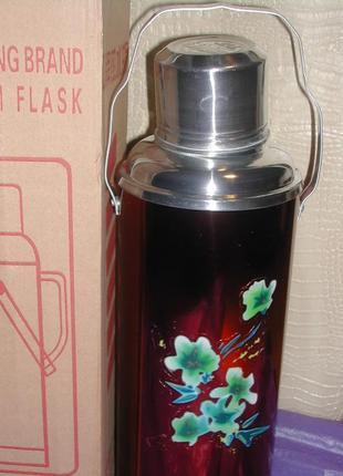 Термос китай на 2 литра со стекляной колбой