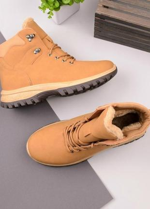 Мужские ботинки на шнуровке(зима)