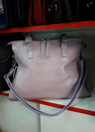 Модная женская сумка из натуральной кожи