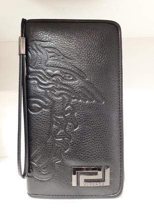 Ультра модный мужской кошелек- клатч - портмоне из натуральной...