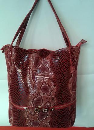 Женская сумка из натуральной кожи (питон)