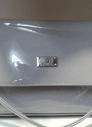 Стильная лаковая женская сумочка - клатч